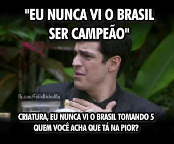 Meme da derrota do Brasil