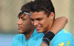 Neymar Jr. e Thiago Silva